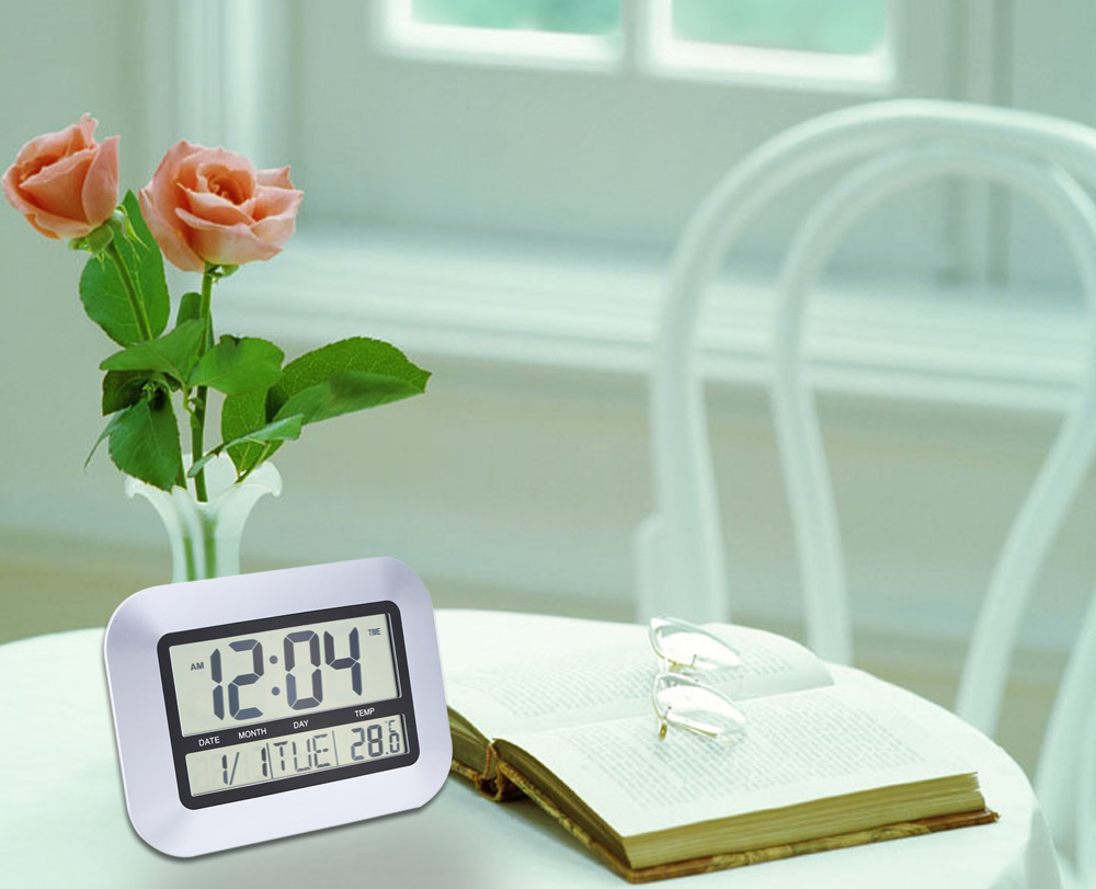 TS - H128Y Multi-functional Electronic Thermometer Hygrometer Calendar Digital Wall Alarm Clock