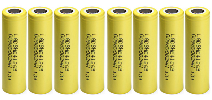 8 x HE4 18650 3.7V 2500mAh Rechargeable Lithium-ion Battery