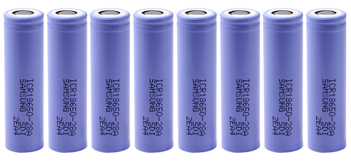 8 x ICR18650 - 28A 3.7V 2800mAh 18650 Rechargeable Li-ion Battery