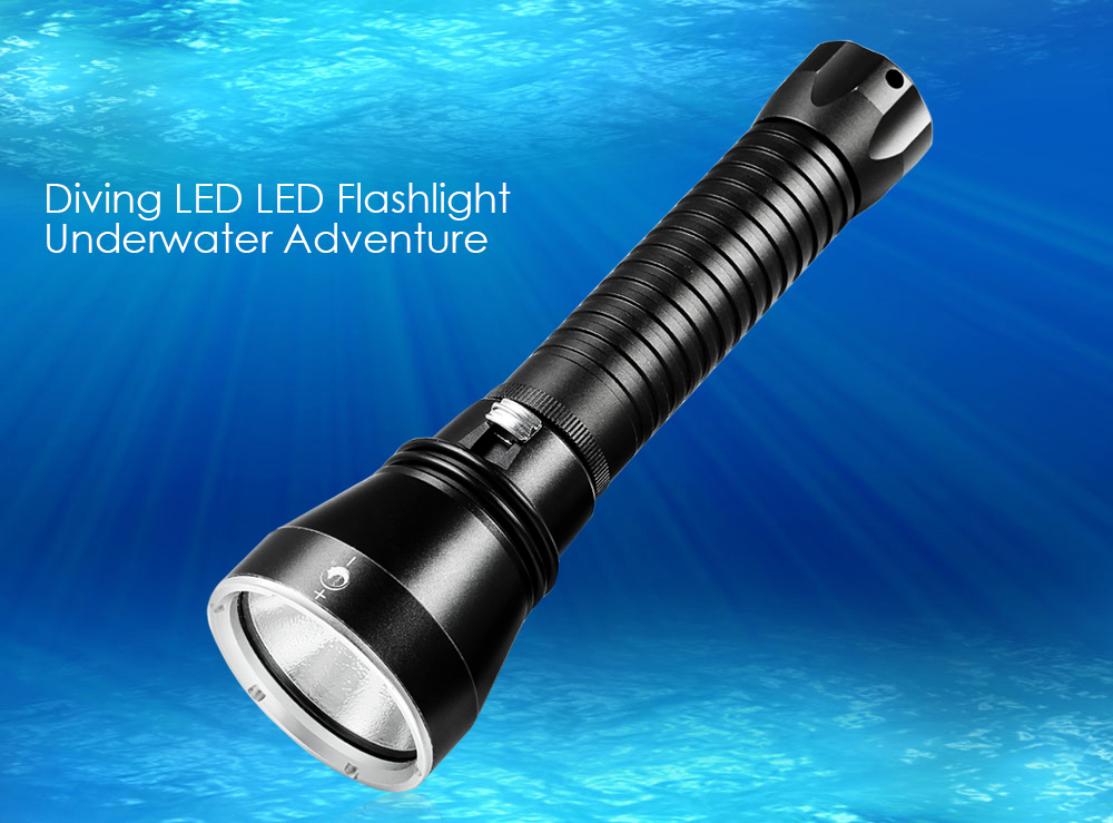 UKing ZQ - X920 4350LM Cree XHP-70 Diving LED Flashlight Underwater 100M