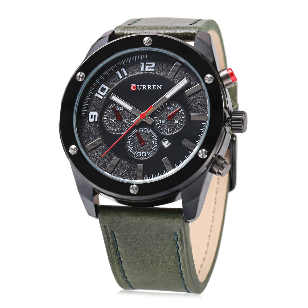 CURREN 8204 Decorative Sub-dial Male Quartz Watch