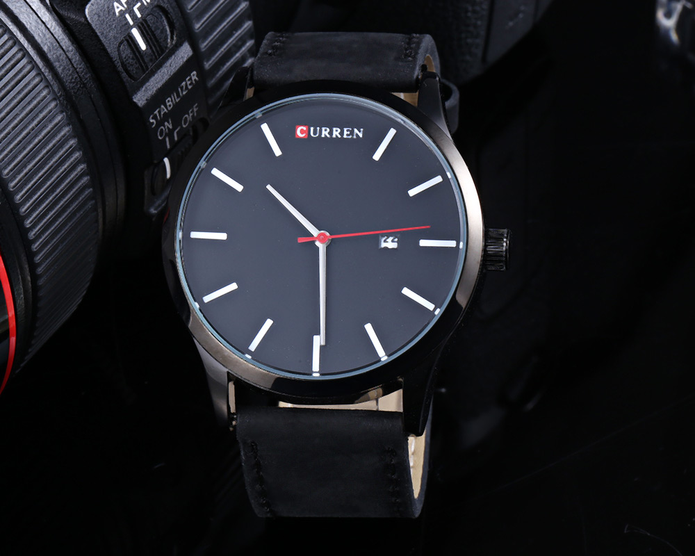 CURREN 8214 Casual Men Watch with Simple Nail Dial