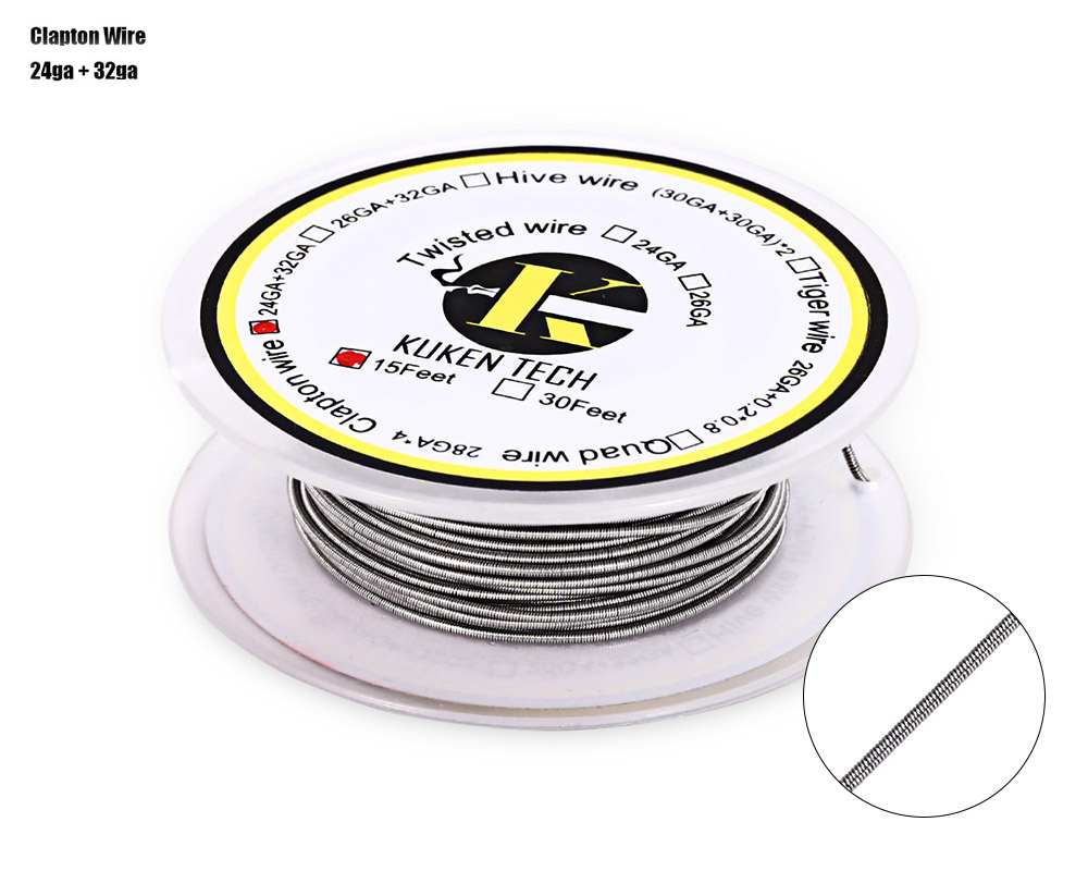 Kuken Tech Kanthal A1 Clapton Resistance Wire 15 Feet Heating Wire E Cigarette Accessory