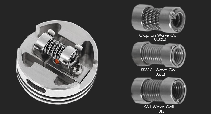 Original Focusecig Wanko RDA with Postless and Screwless Single Coil Building / Wave Coil E Cigarette Rebuildable Dripping Atomizer