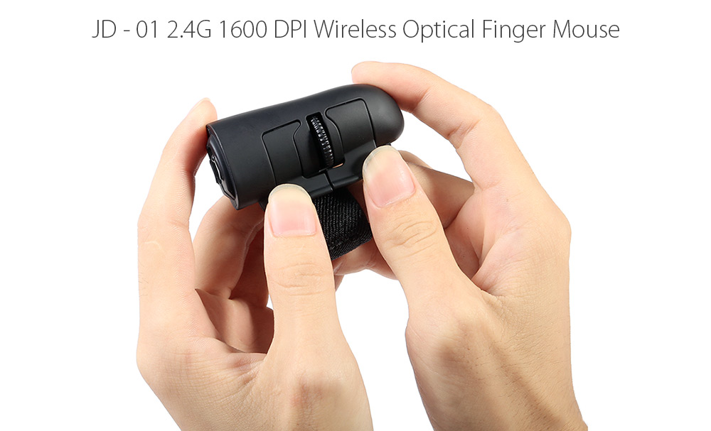 JD - 01 2.4G 1600 DPI Wireless Optical Finger Mouse with LED Light Engine