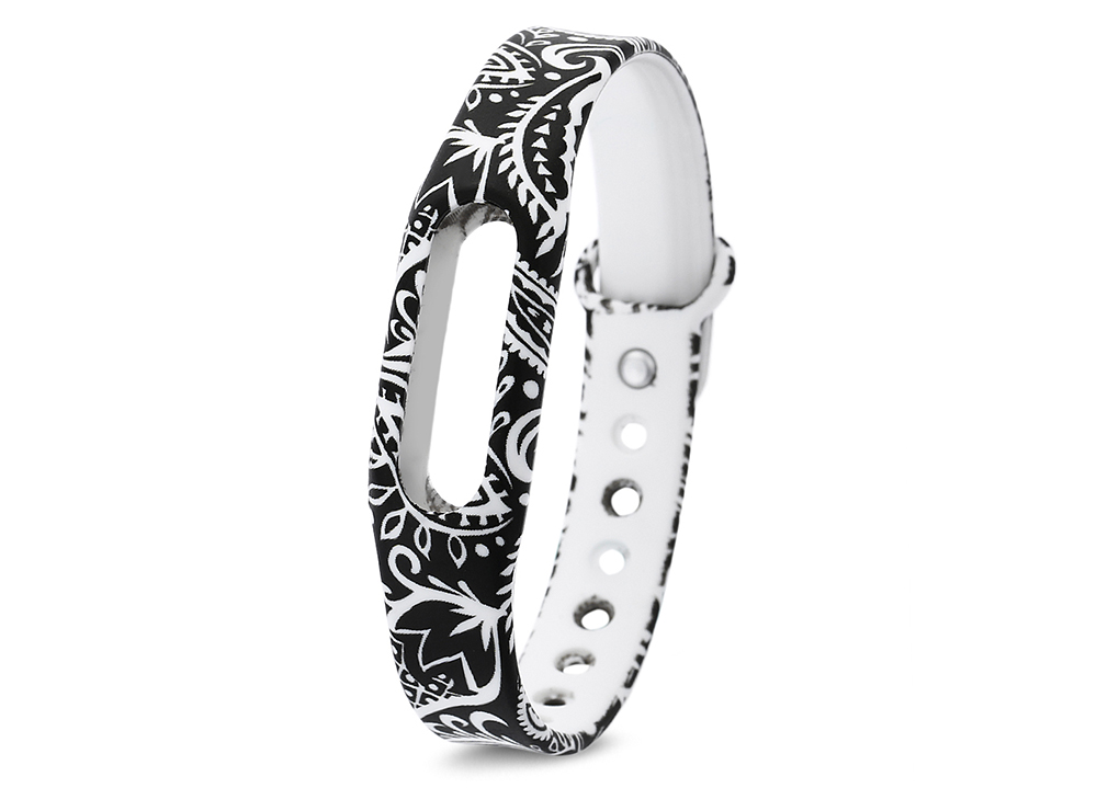 Flower Pattern Replaceable TPU Watch Band for Xiaomi Miband 1 / 1S
