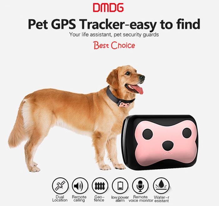 DMDG Mini Water Resistance GSM / GPS Strap Tracker Realtime Tracking for Pets