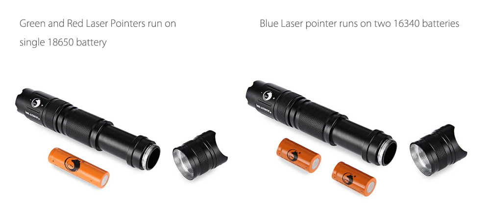 UKing ZQ - 012 532nm 5mw Zoomable Laser Pointer + Battery + Charger