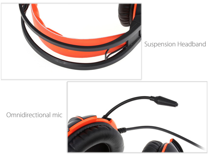 Somic G905 Stereo Gaming Headsets with Microphone Volume Control Suspension Headband