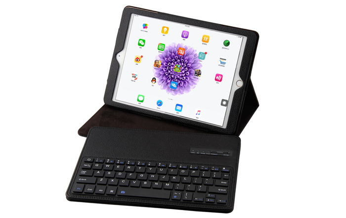 2 in 1 Bluetooth 3.0 Keyboard PU Leather Protective Full-body Case for iPad Pro 9.7 inch with Stand Holder