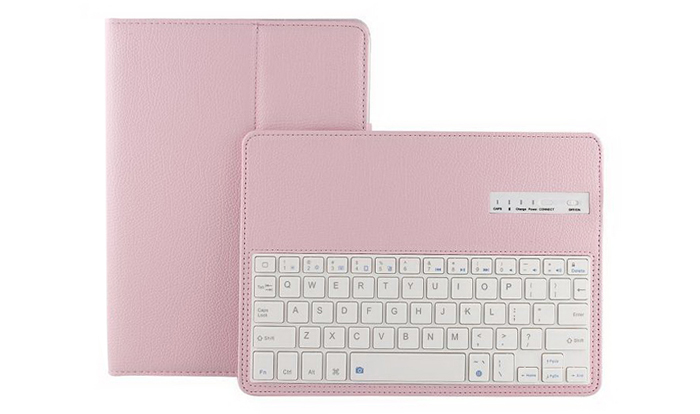 2 in 1 Bluetooth 3.0 Keyboard PU Leather Protective Full-body Case for iPad Air / Air 2 with Stand Holder