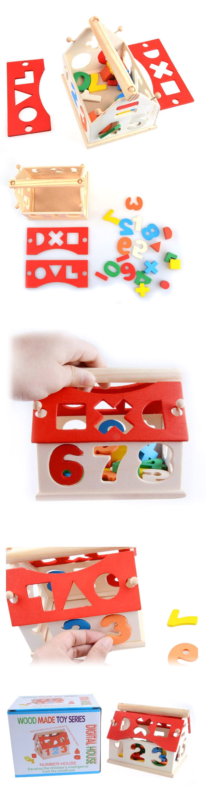 Digital Number Building Block House Educational Product Kid Toy