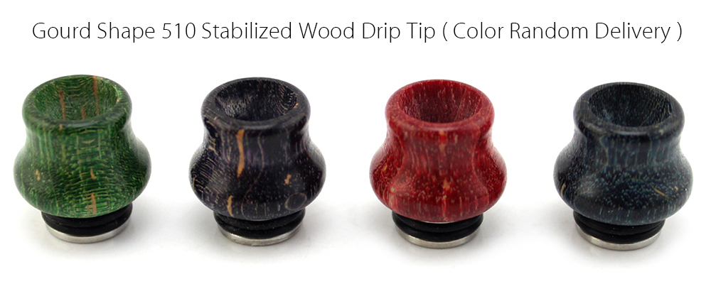 Gourd Shape 510 Stabilized Wood Drip Tip Replacement Mouthpiece E Cigarette Accessory ( Color Random Delivery )
