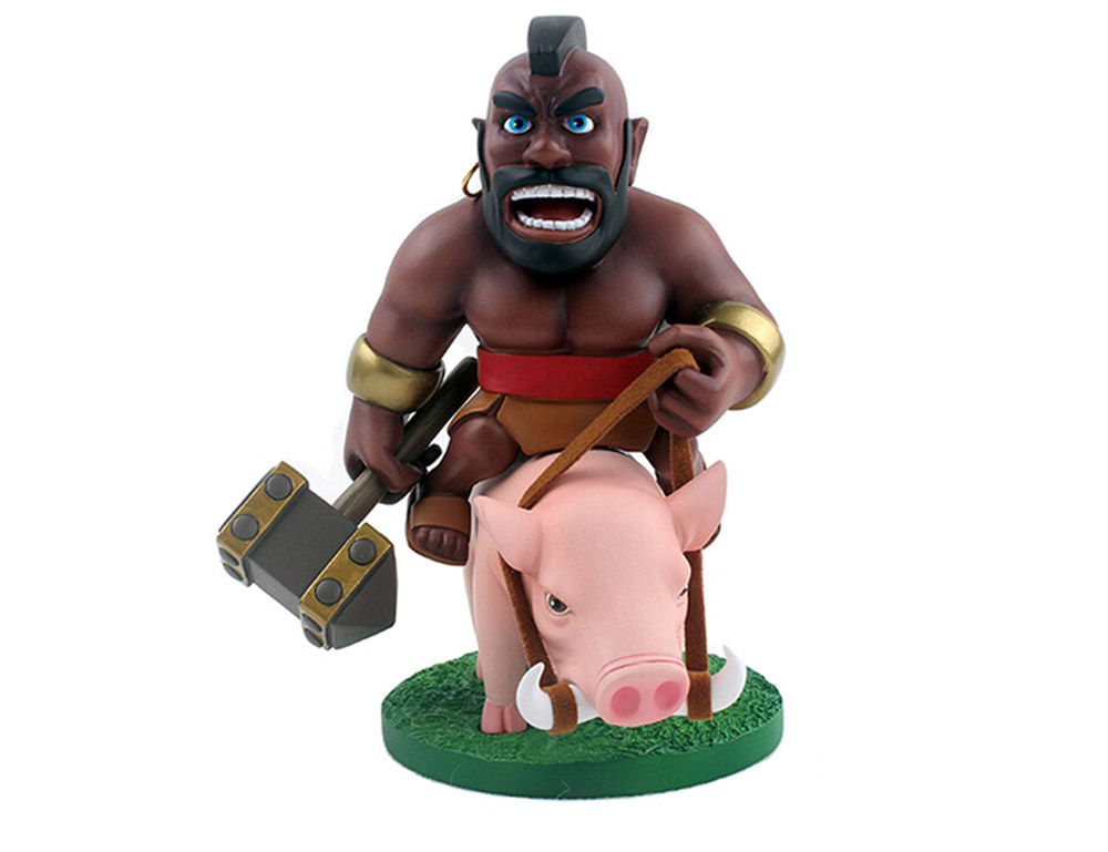 COC 17cm High Hog Rider Figure MMORPG Video Game Model Collection Table Decor Gift for Game Players Fan