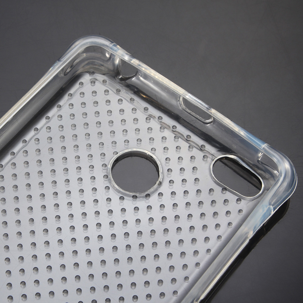 Transparent Style TPU Soft Case Protective Cover for Xiaomi Redmi 3 / 3S with Salient Points Design