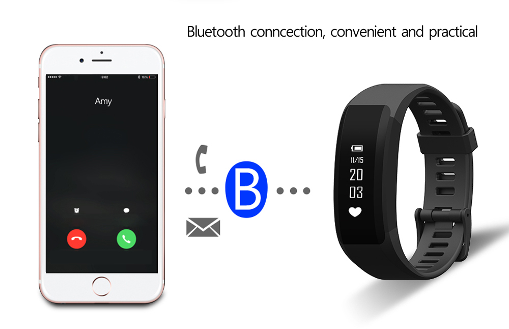 H28 Bluetooth 4.0 Heart Rate Monitor Smart Watch with Sleeping Monitor Anti-lost Reminder
