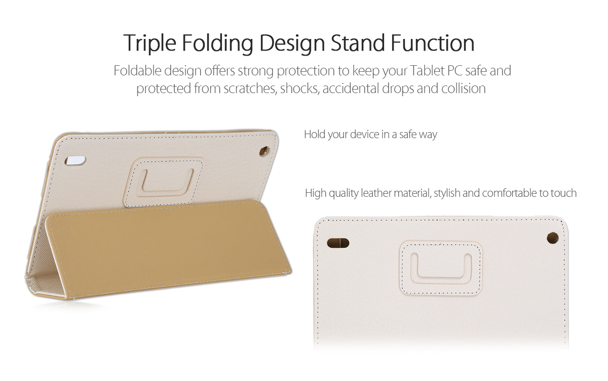 Original Teclast X80 Series PU Protective Case with Folding Design Stand Function