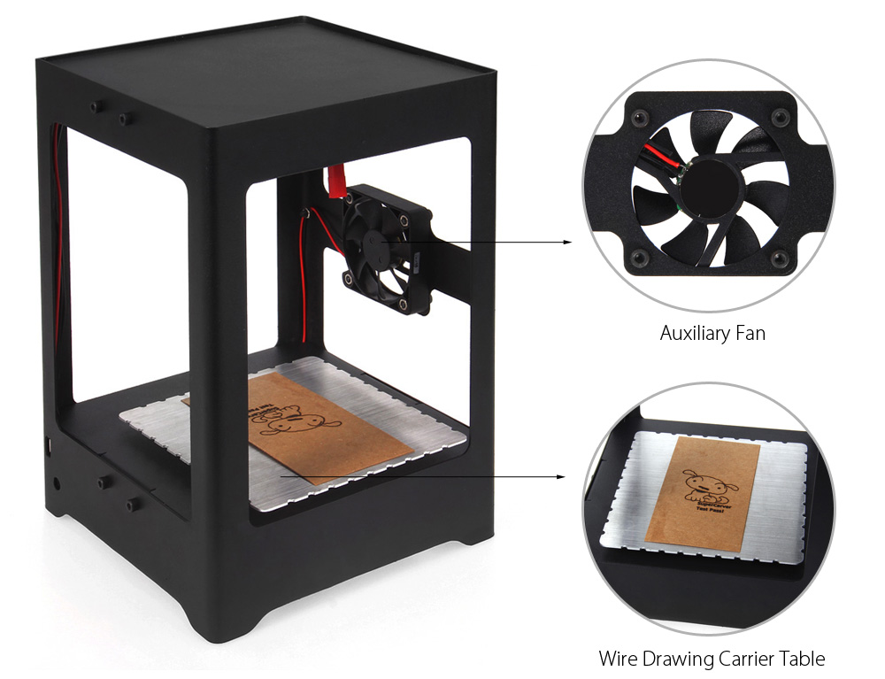 DECAKER SUKA - K2 Miniature Desktop DIY Laser Engraver 1000mW Support WiFi Android 4.0 Windows XP