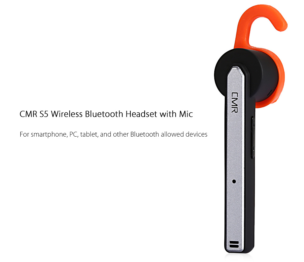 CMR S5 Wireless Bluetooth 4.1 Headset with Mic Support Hands-free Talking Volume Control