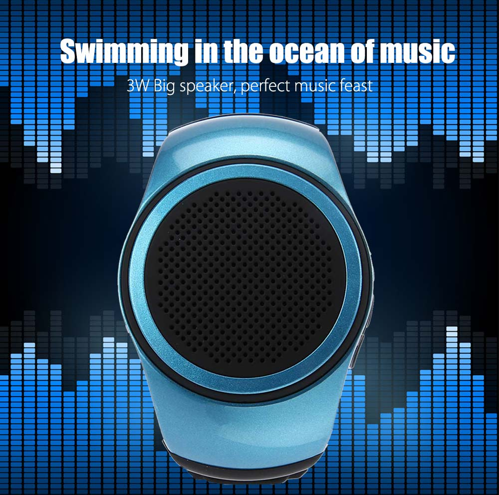 Ourspop B20 MP3 Music Player Watch Wireless Bluetooth Speaker for Outdoor Sports