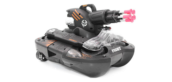 YED 24883B 2.4GHz Wireless RC Tank Wireless Water / Land Mode BB Bullet Shooting with LED Light