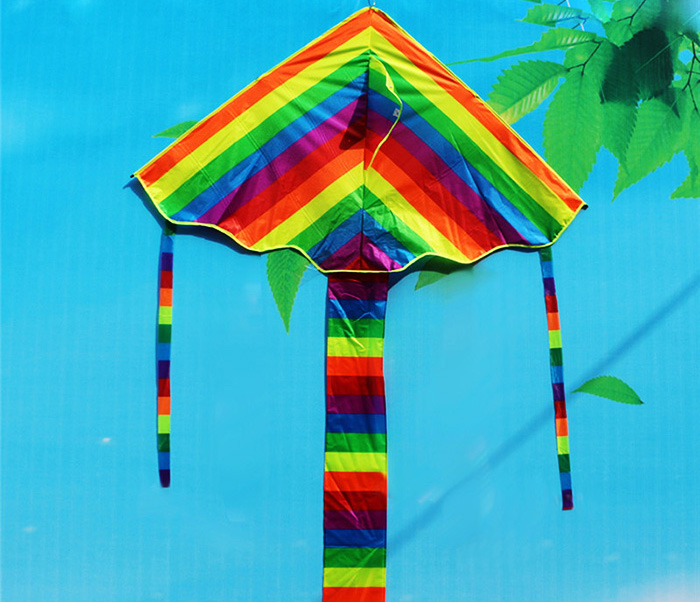 Funny Rainbow Color Flying Kite Outdoor Sport Toy for Children