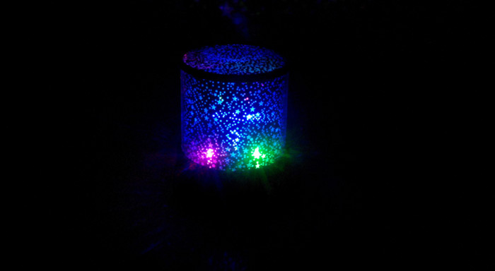 Star LED Night Light Projector Lamp for Party Kid Bedroom Christmas Decor - 1pc