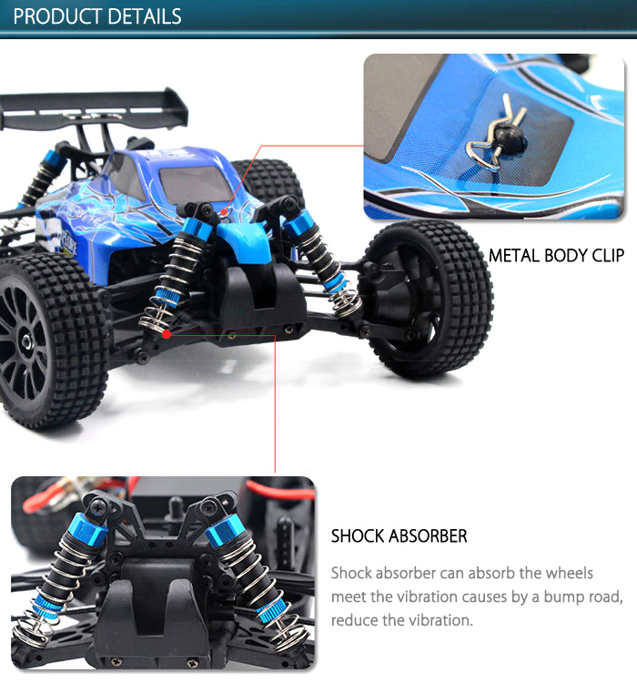HT C604 1 / 16 Full Scale 4WD 2.4G 2CH RTR High Speed Off Road Racer Cross-country Car