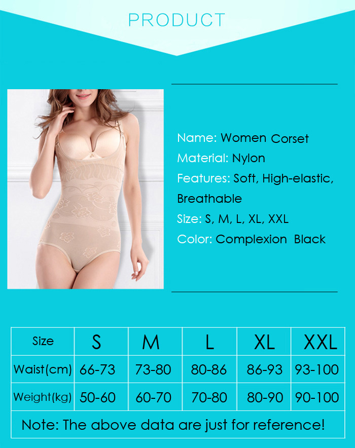 Women Jumpsuit Flatten Abdomen Corset Slimming Body Shape