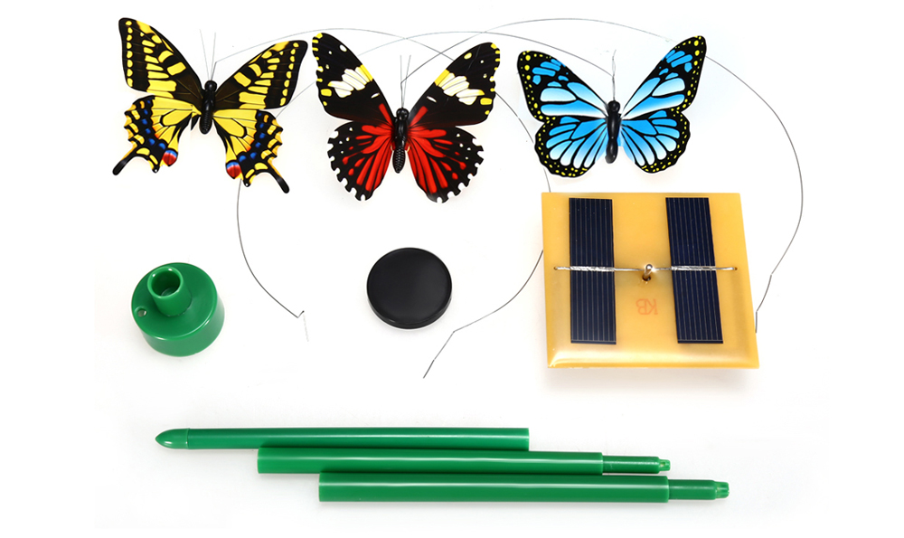 Novelty Solar Energy Flying Butterfly Toy DIY Decoration for Garden Bonsai