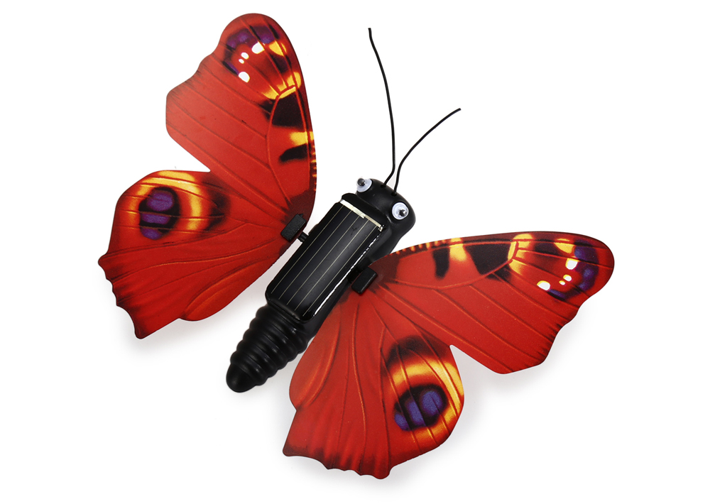 Novelty Solar Energy Flying Butterfly Toy Decoration for Garden Bonsai