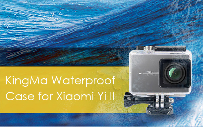 KingMa 45m Waterproof Cover Case for Xiaomi Yi II 4K Action Camera Swimming Diving Surfing Housing