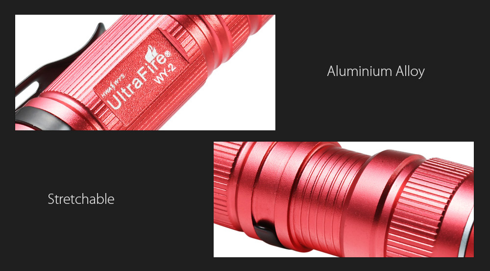 Ultrafire WY - 1 Cree XPE R2 389Lm Zooming Handy LED Flashlight