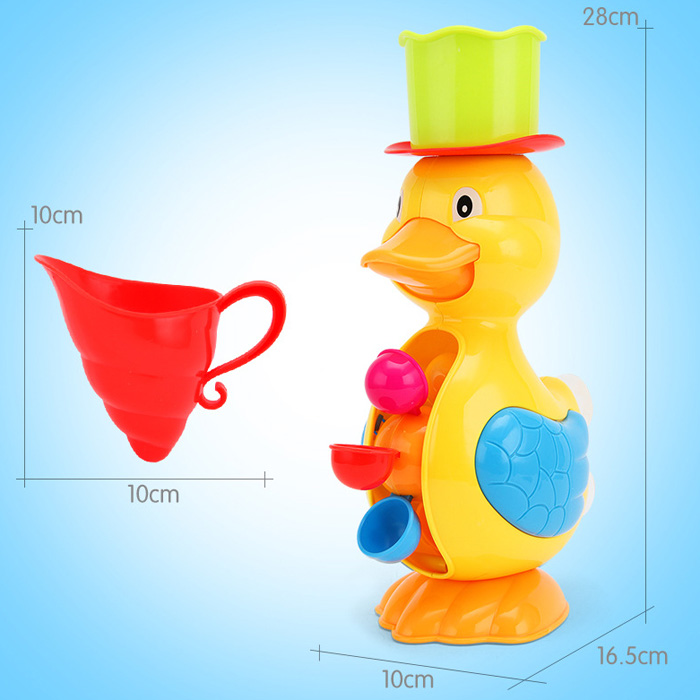 KUNSHENG Lovely Duck Pattern Bath Shower Water Spraying Toy for Kid
