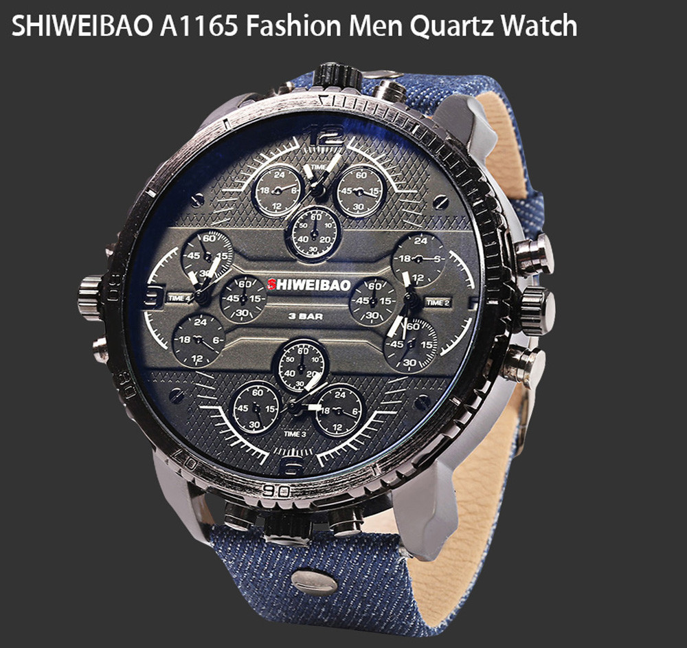 SHIWEIBAO A1165 Casual Oversized Dial Quartz Watch for Men