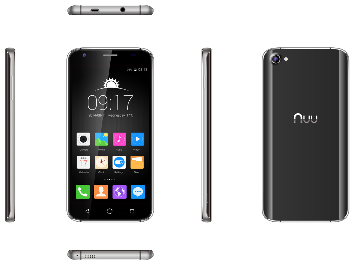 NUU X4 Android 5.1 5.0 inch 4G Smartphone MTK6735 1.3GHz Quad Core 2GB RAM 16GB ROM 13.0MP Rear Camera GPS Bluetooth 4.0