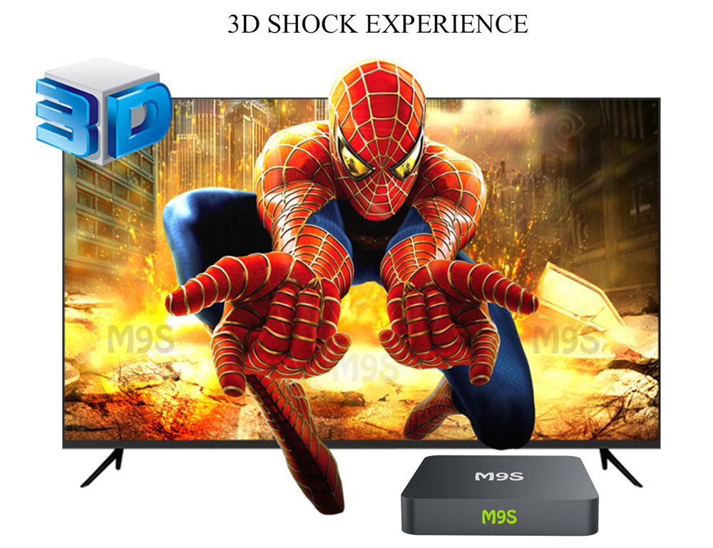 M9S TV Box Amlogic S905 Quad Core H.265 1GB DDR3 RAM 8GB eMMC ROM Android Mini PC 2.4GHz WiFi Bluetooth 4.0