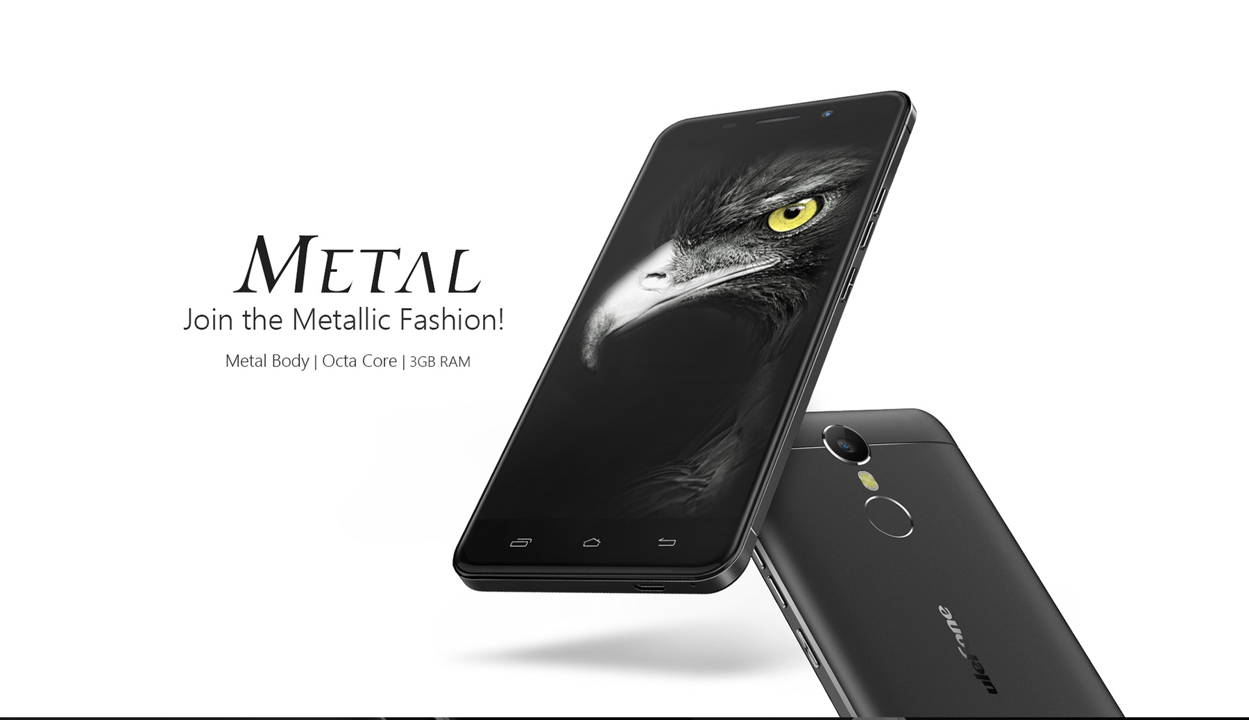 Ulefone Metal Android 6.0 5.0 inch 4G Smartphone MTK6753 Octa Core 1.3GHz 3GB RAM 16GB ROM Fingerprint Scanner GPS OTG Bluetooth 4.0