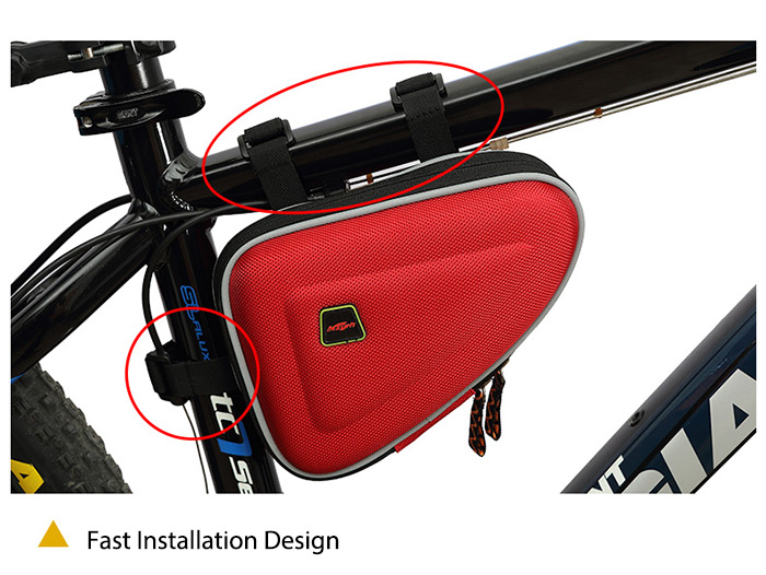 MZYRH Bicycle Bag EVA Cycling Front Tube Triangle Package