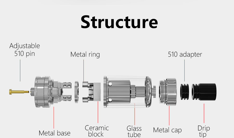Original Smoant Mobula RTA 6ml E Cigarette Rebuildable Tank Atomizer with Top and Bottom Adjustable Airflow Control / Huge Two-post Deck / Top Refilling System