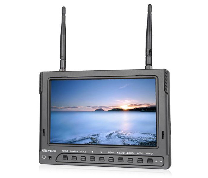 Newest Version FEELWORLD 7 inch FPV-732 HD FPV Monitor with Sun Shade Cover - Build-in Battery - 1.5A Charger