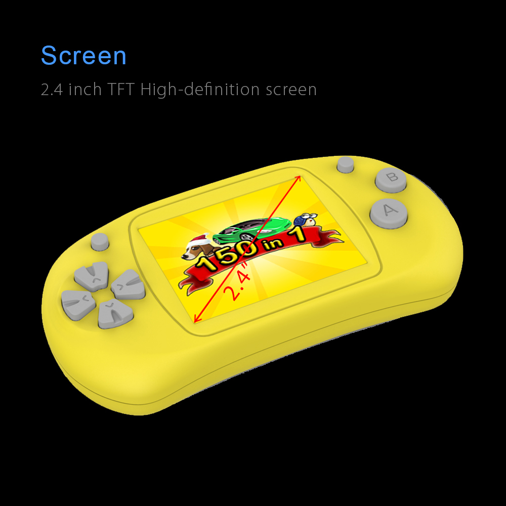 Oplayer MGS2401A Mini Handheld Game Console Controller 2.4 inch LCD TFT Screen Built-in 150 Games