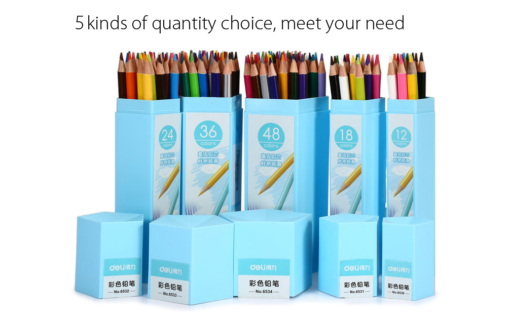Deli 48 Color Non-toxic Pencils Set for Painting