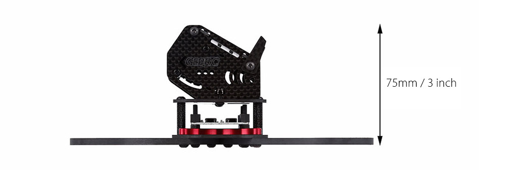 GEPRC GB190 190mm 4mm Arm Carbon Fiber Frame Kit Quadcopter Spare Parts with PDB Board