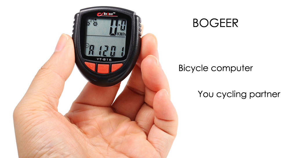 BOGEER YT - 816 Multifunctional Wired Bicycle Computer