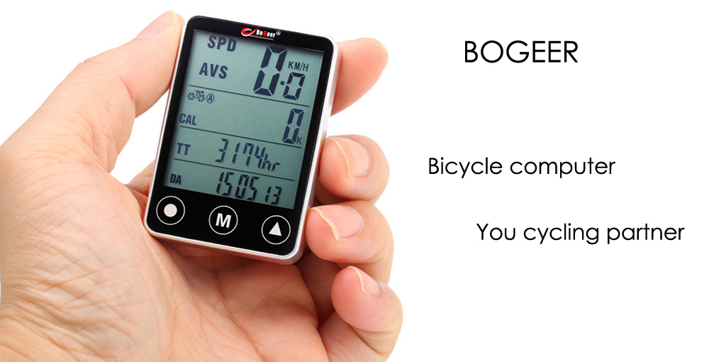 BOGEER YT - 308 Water Resistant Multifunctional Wired Bicycle Computer