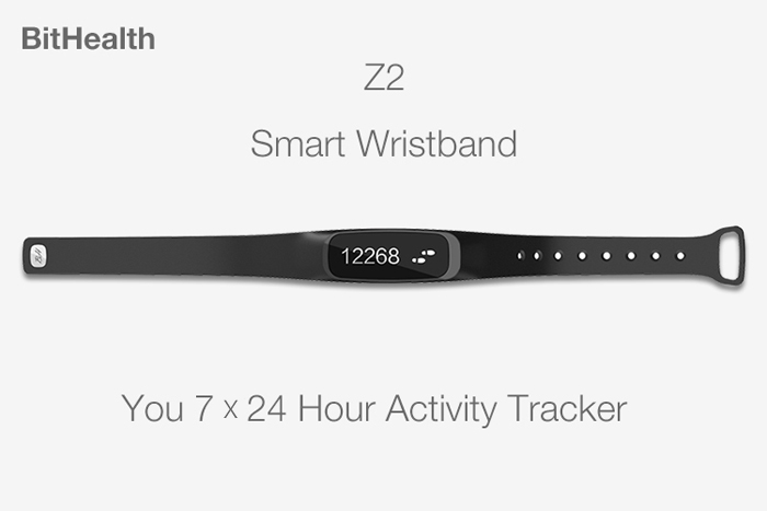 BitHealth Z2 Bluetooth 4.0 Smart Wristband with Touch Button Sleeping Monitor Watch