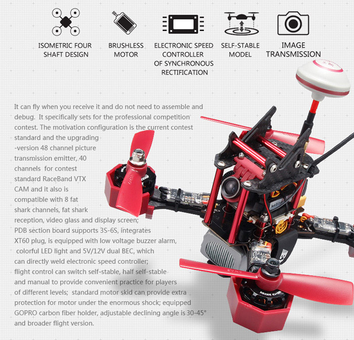JJRC JJPRO - P175 FPV 6CH Racing Quadcopter ARF Version with Skyline32 Acro Flight Controller