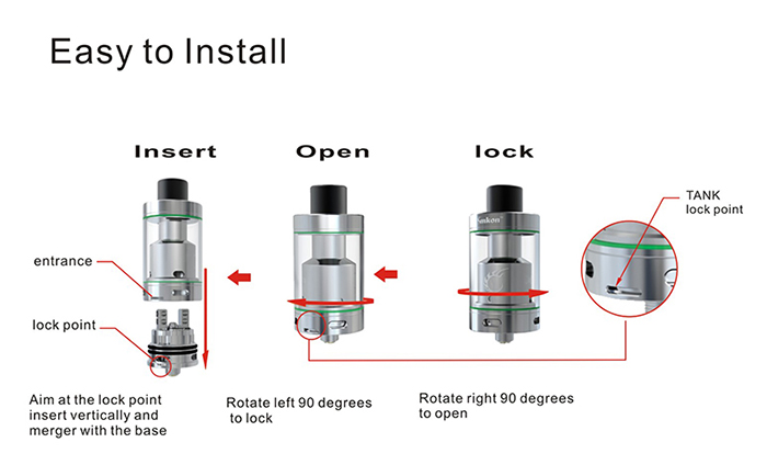Original Smkon Deepfire RTA Tank with 4.5ml Capacity / Top Filling / Dual Posts for E Cigarette