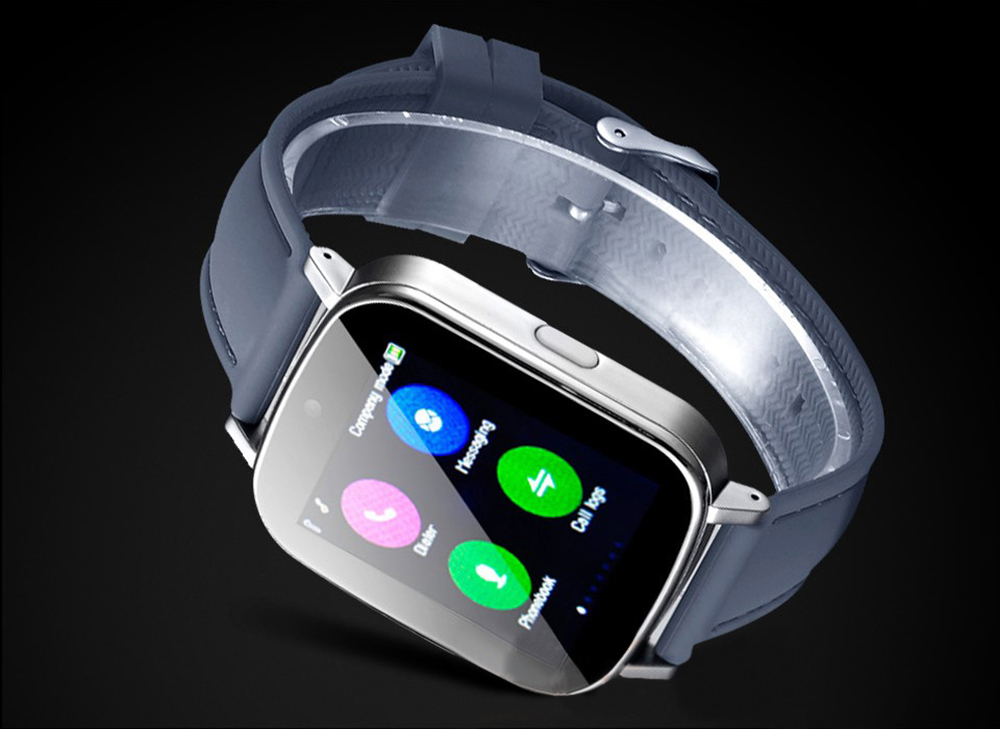 Z9+ 1.54 inch Smartwatch Phone MTK6261 Sleep Monitoring Pedometer Sedentary Remind MP3 Message Sync